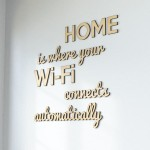 Napisy na ścianę HOME is where your Wi-Fi connects