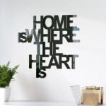 Napis 3d HOME is where the heart is
