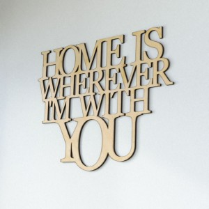 Napis na ścianę Home is where im with you