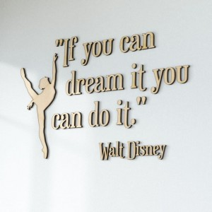 Litery na ścianę If you can dream it you can do it