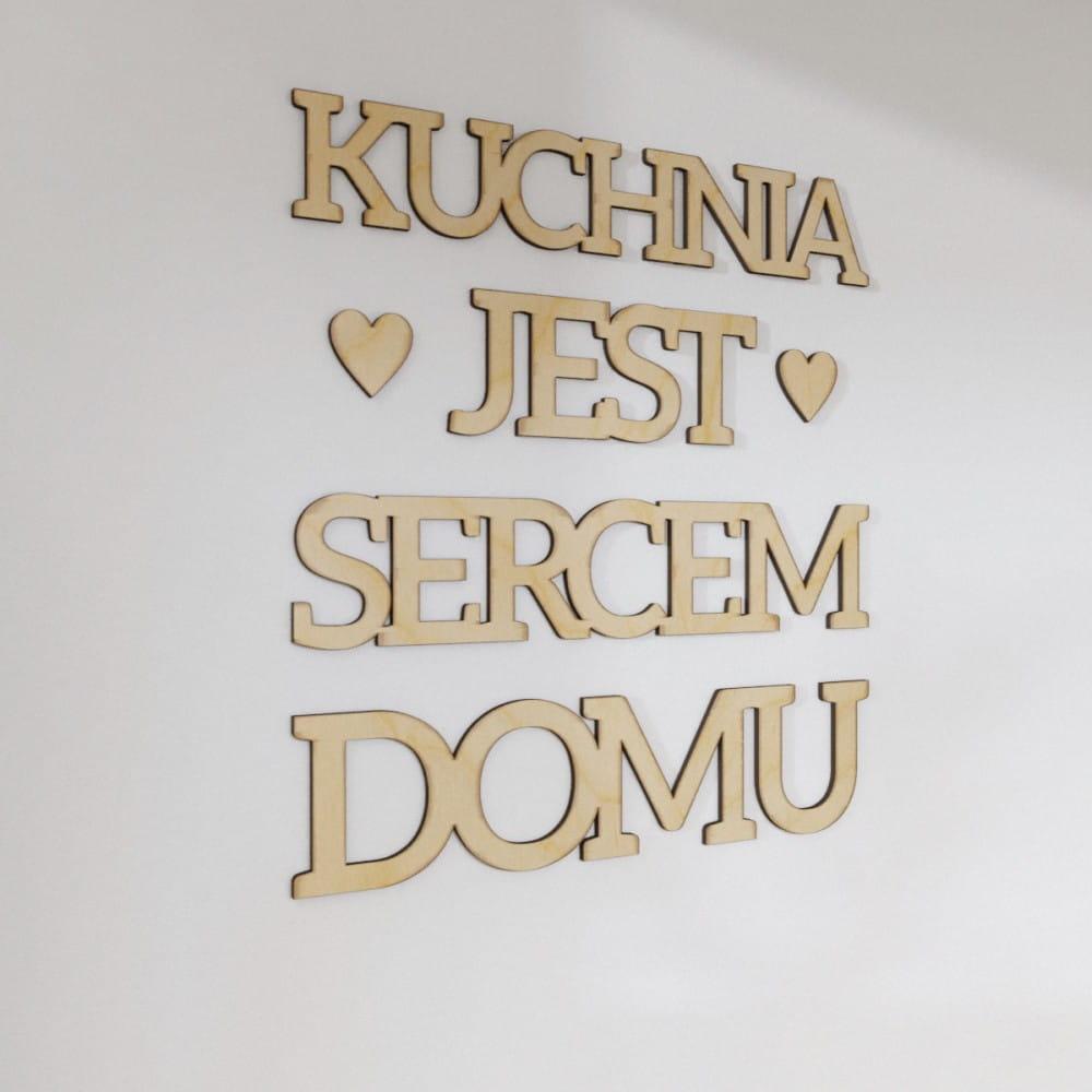 Napisy Na ścianę 3d Kuchnia Jest Sercem Domu