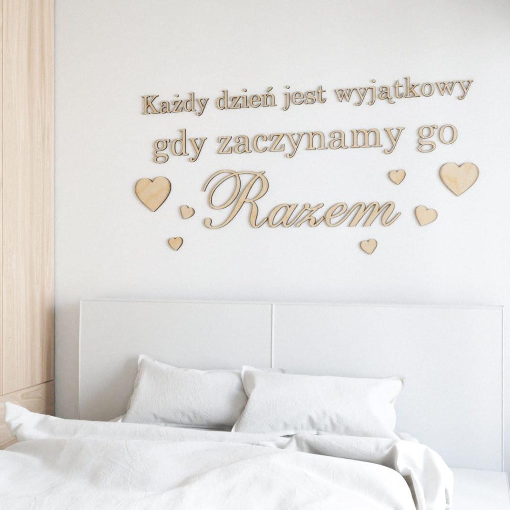 Napisy Na ścianę Każdy Dzień Jest Wyjątkowy